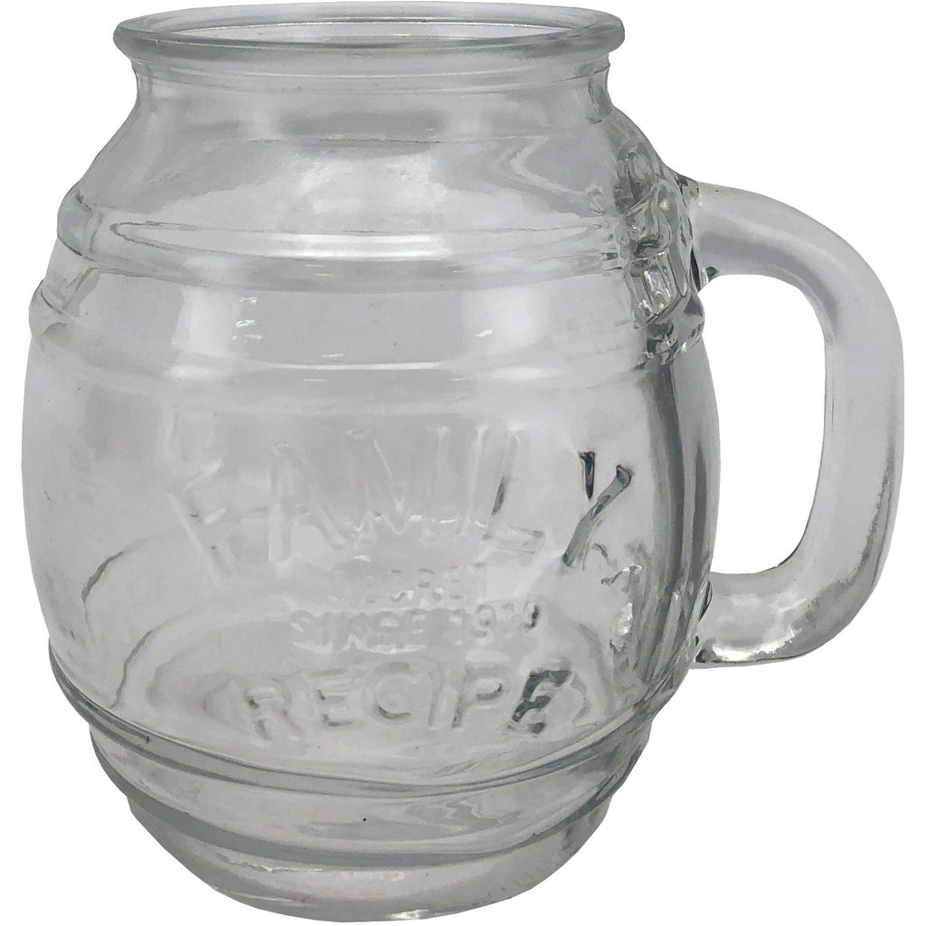 Family Recipe labelled Glass Mug