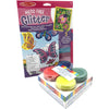 Kids arts and Crafts Glitter Sheets decoration kit with butterlfies and flowers.