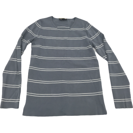 Kirkland Grey Striped Women's Sweater: Small