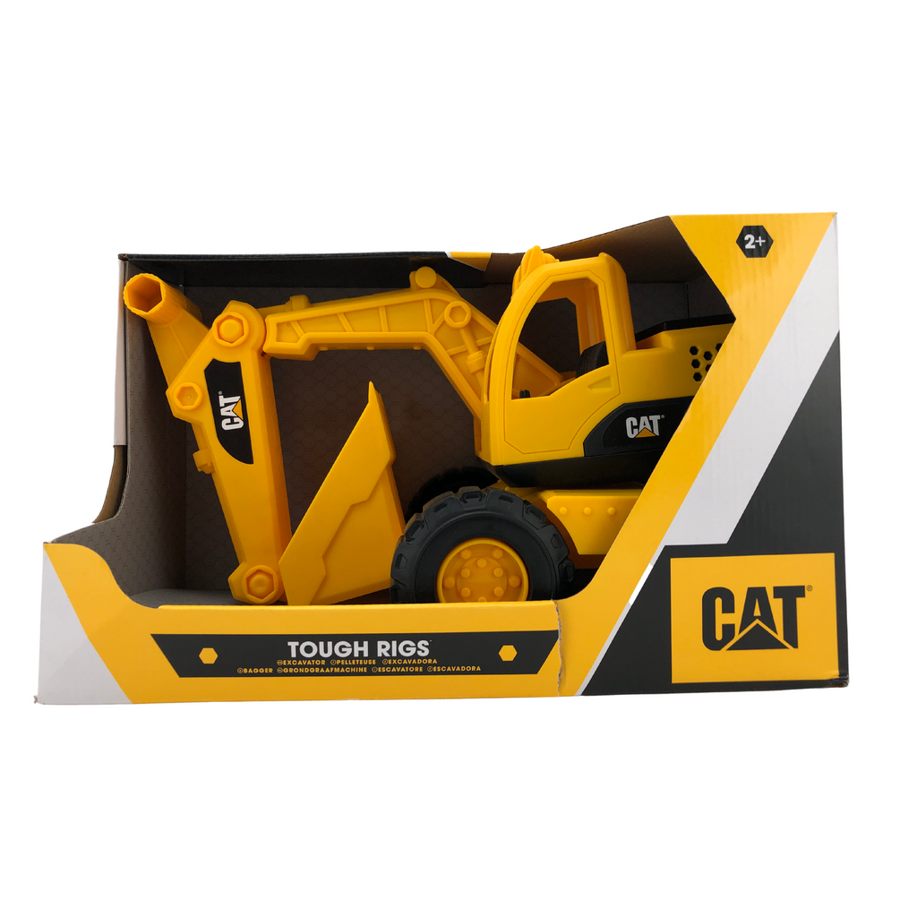 "CAT Toy Excavator 15"" Plastic Construction Toy"