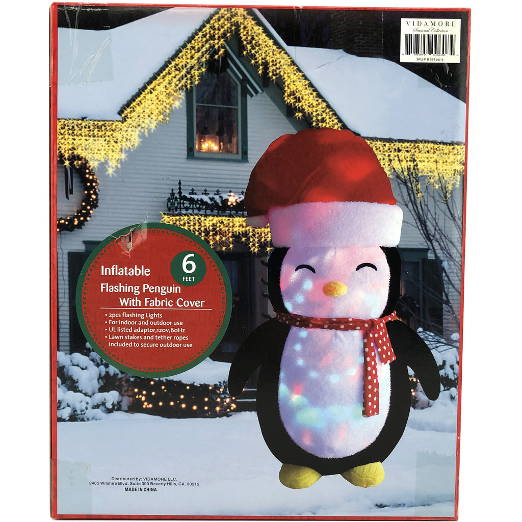 6 Foot Inflatable Chritsmas Penguins with a 2 pc LED Inside Yard decoration