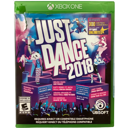 "Xbox One ""Just Dance 2018"" Game: Video Game: Opened"