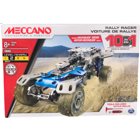 Meccano Rally Racer Sports Car: STEM Learning