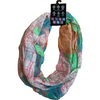 Women's Fashion Scarf: Multicolour Pattern: Infinity Scarf