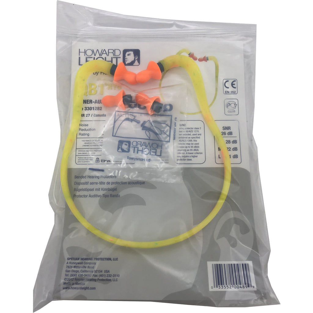Howard Leight Quiet Band Hearing Protection | QB1 HYG | 10 Pair | Yellow and Orange