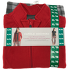 Women's 3 Piece Pajama Set: Red/ Red Plaid
