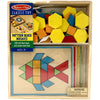 Melissa and Doug mosaic skill board match shapes to colors on the board to create a picture