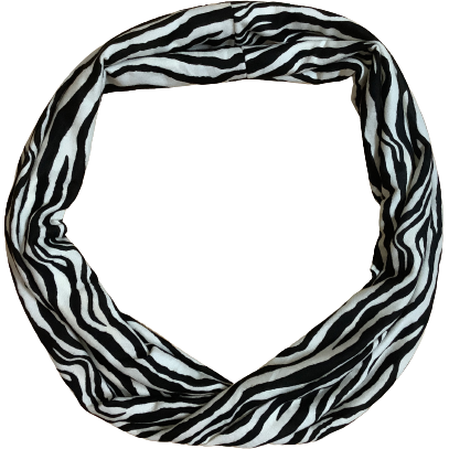 Women's Infinity Scarf: Zebra Pattern (no tags)