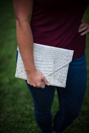 Glam Gator Clutch