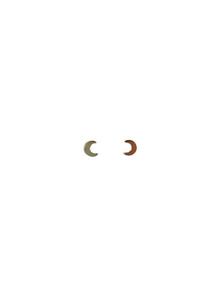 Gold Filled Crescent Moon Studs