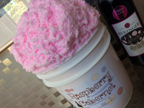 Raspberry Cabernet Foaming Sugar Scrub Soap - Soapalamode