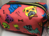Betsy Johnson Bulldog Make Up Pouch - Soapalamode