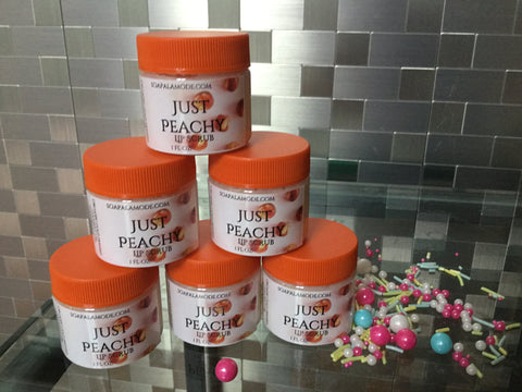 Just Peachy Lip Scrub - Soapalamode
