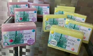Foaming Sugar Scrub Bar - Soapalamode