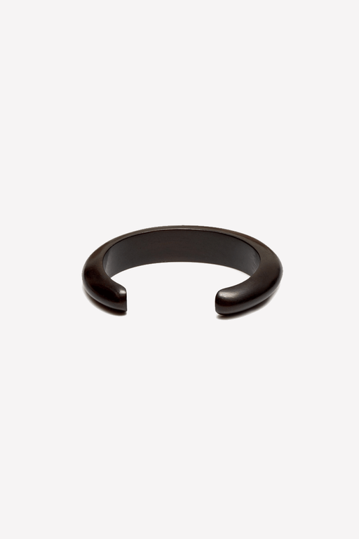 Slim curved cuff in black wood