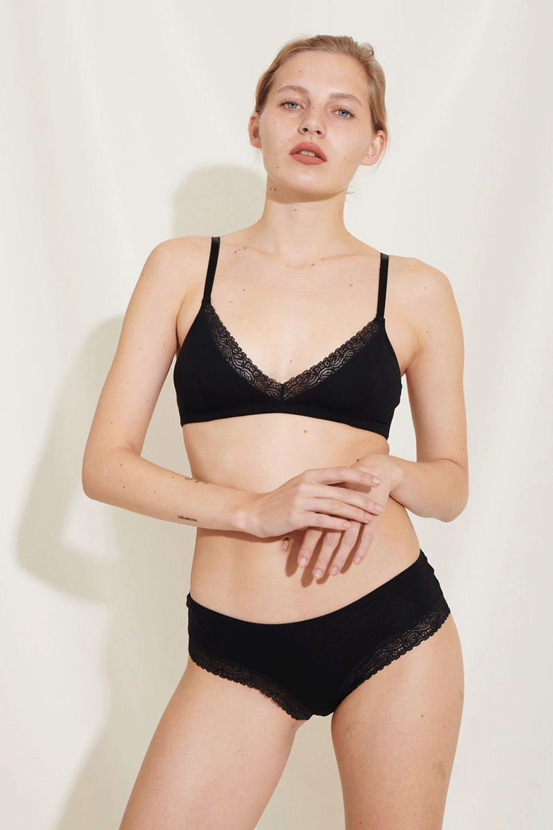 Bea Bra Organic Cotton Black