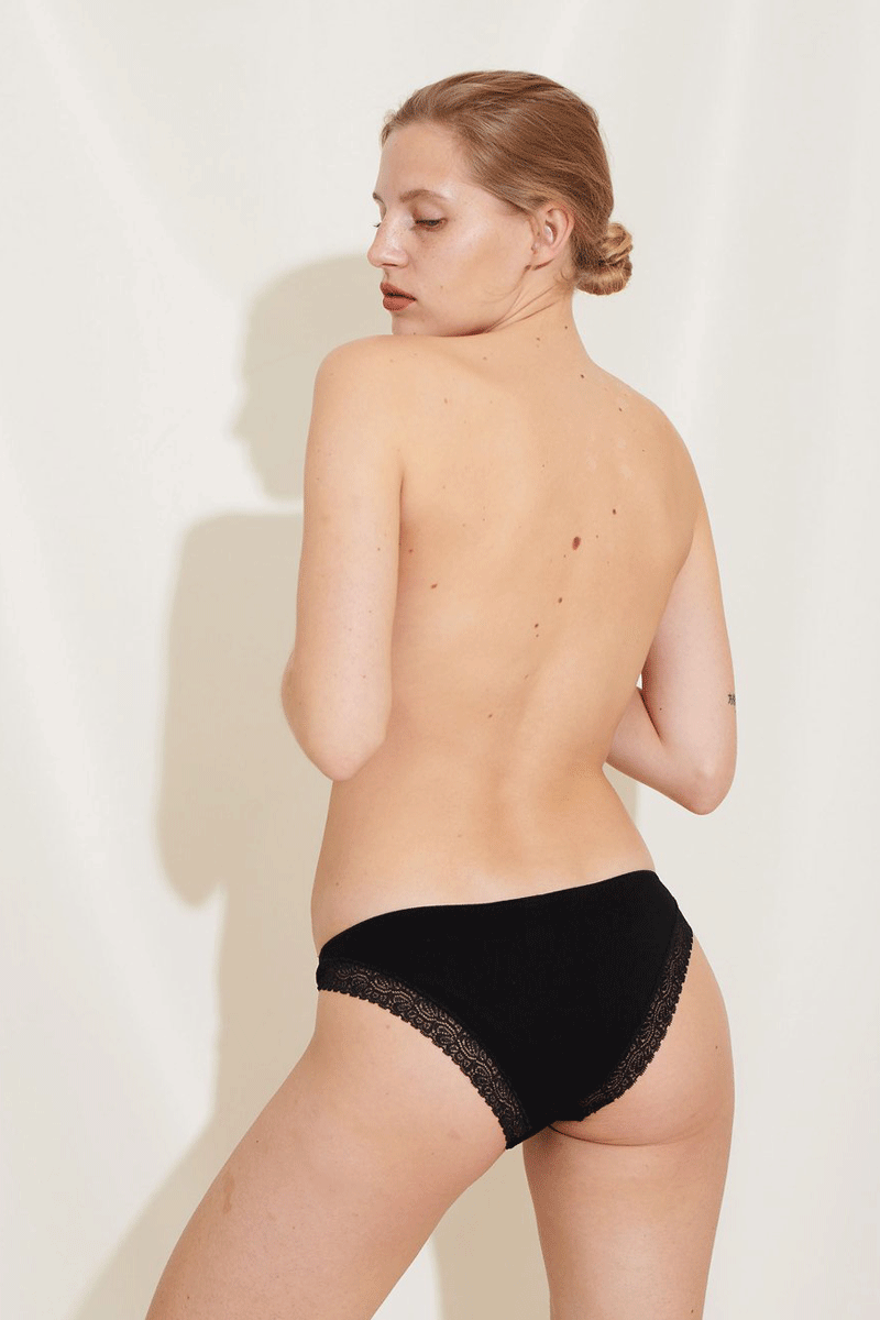 Bea Briefs 3 Pack Organic Cotton Black