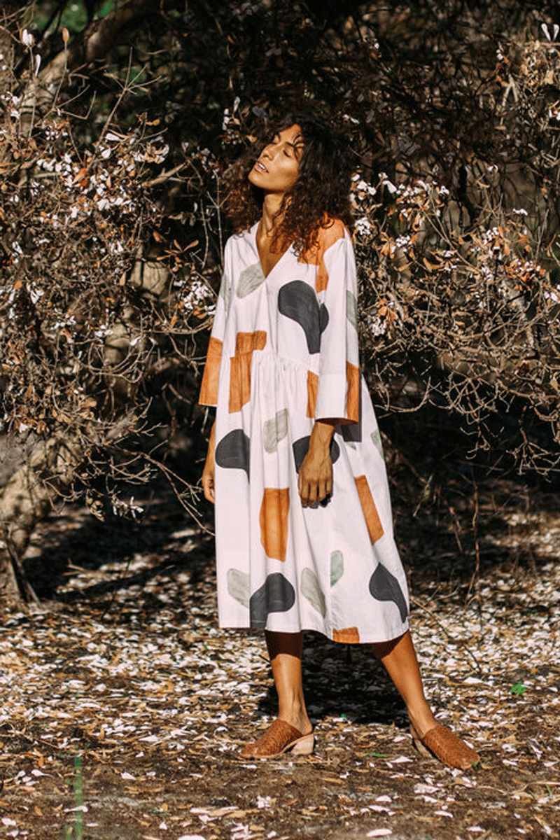 Mallee Organic Cotton Dress in Hinterland