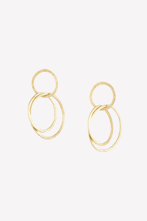 People Tree Linked Rings Earrings in Gold