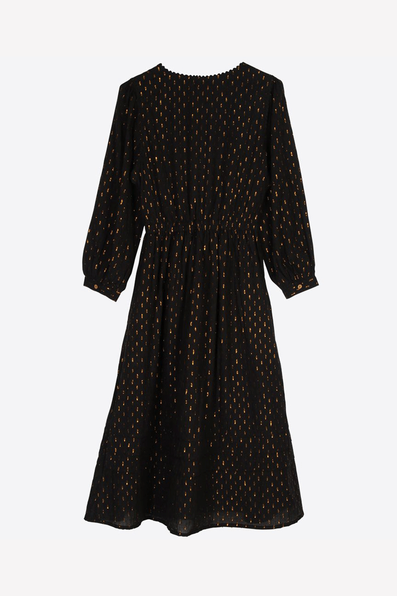 Lowie Black & Gold Veronica Dress