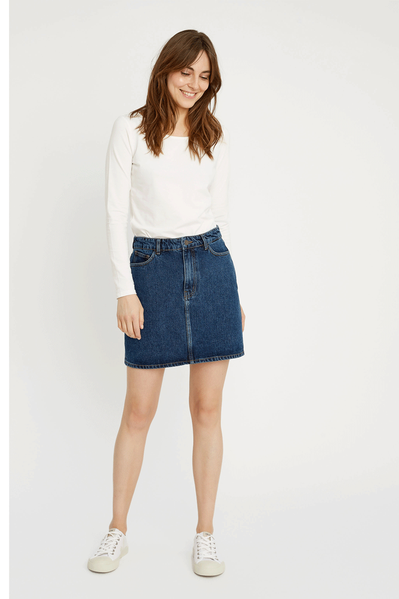 People Tree Catrina Denim Skirt