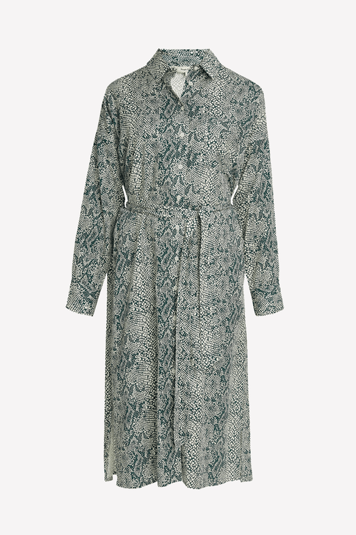 Ginny Shirt Dress in Snake Print