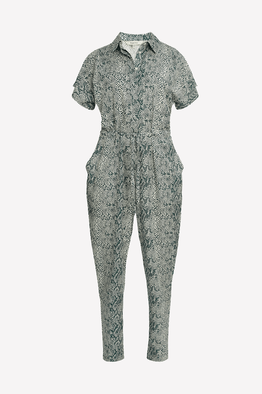 People Tree Lisette Snake Print Jumpsuit