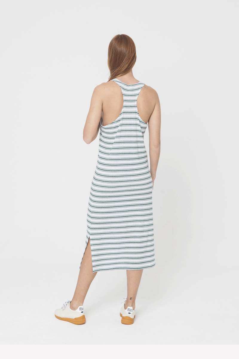 Horizontal Rayas Hemp Lazy Dress
