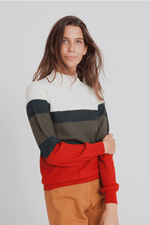 Thinking Mu Cosy Turtleneck Sweater in Ecru