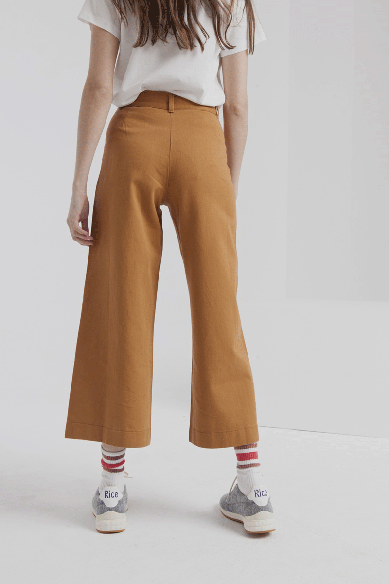 Wide Leg Pants in Camel