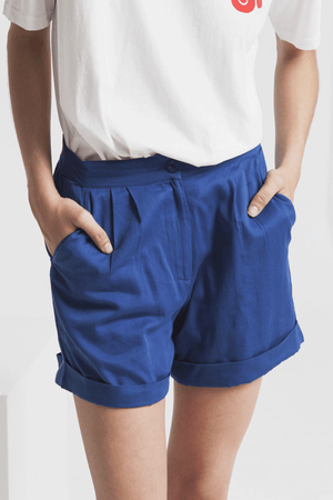 Mama Organic Cotton Shorts in Blue