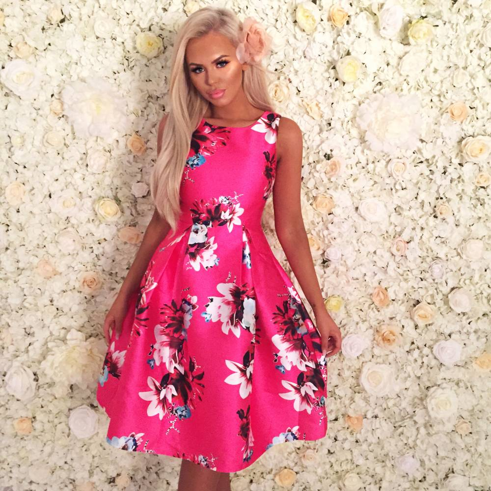 how to accessorise a floral dress