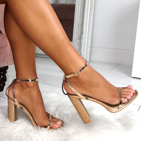 Rose Gold Block Heels