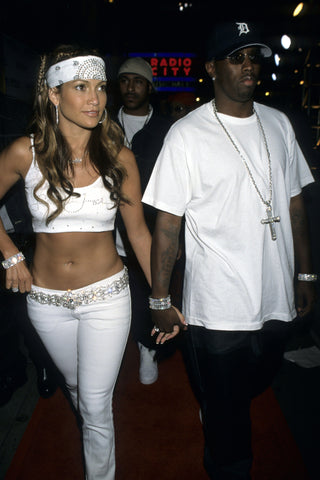 Jennifer Lopez and P-Diddy White Outfits