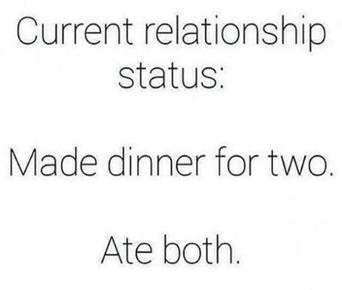 Relationship with food meme