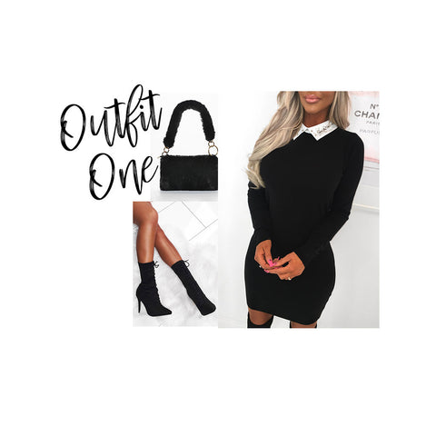 Black Winter Outfit Collage