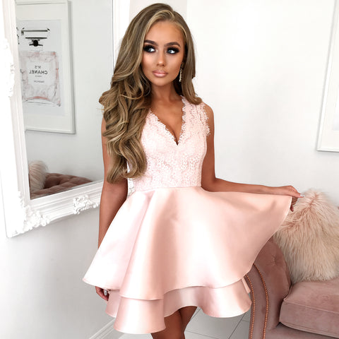 Rose Gold Skater Dress