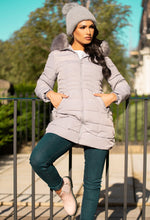 Grey Puffer Coat Women's