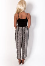 Thai Black and White Multi Print Harem Pants