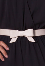 Bow Cream Elasticated Waist Belt
