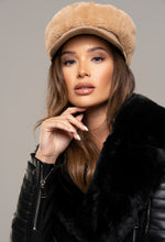 Camel Faux Fur Hat