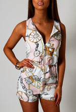 Santa Monica Multicolour Nautical Print Playsuit