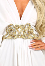 Crazy In Love White Embellished Batwing Maxi Dress