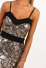 Shut Up And Dance Gold Sequin Mini Dress