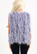 Dolce Diva Grey Feather Gilet