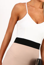 Naked Bud Stone Colour Block Bodycon Midi Dress