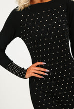 Casey Black Studded Jumper Dress