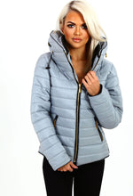 Georgie Girl Ice Blue Quilted Puffer Jacket