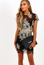 Flirtation Black Embroidered Mini Skirt