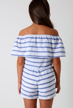 Cutie Blue and White Striped Two Piece Set